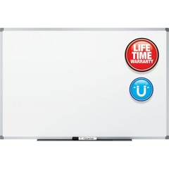 Quartet 85518: Standard DuraMax Magnetic Whiteboard 96 8 ft Width x 48 4 ft Height White Porcelain Surface Silver Aluminum Frame Rectangle Horizontal / Vertical Mount Assembly Required 1 Each.