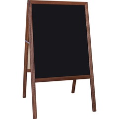 Flipside 31221: Stained Black Chalkboard Easel Stained Black Surface Hardwood Frame Rectangle 1 Each
