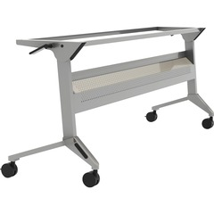 Safco LF48SLV: Flip-N-Go Silver Training Table Base Silver Base 28 Height Assembly Required