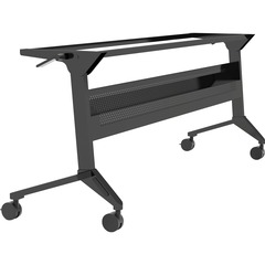 Safco LF72S5: Flip-N-Go Black Training Table Base Black Base 28 Height Assembly Required