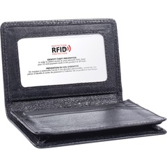 Swiss Mobility BCC97349SMBK: Carrying Case Business Card, License Black Leather 0.8 Height x 3 Width x 4 Depth 1 Pack