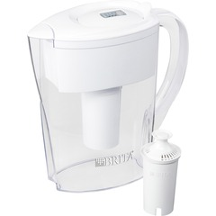 Brita 35566BD: Space Saver Water Filter Pitcher Pitcher 40 gal / 2 Month 6 Cups Pitcher Capacity 76 / Bundle White