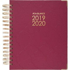 At A Glance 6099806A56: Harmony Appointment Book / Planner Medium Size Academic / Professional Yes Daily, Monthly 1 Year July till June 7 00 AM to 8 00 PM 1 Day Single Page Layout 1 Month Double Page Layout