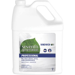 Seventh Generation 44731: Professional Hand Wash 1 gal 3.8 L Bottle Dispenser Hand Clear Carry Handle, Dye-free, Triclosan-free, Fragrance-free 1 Each