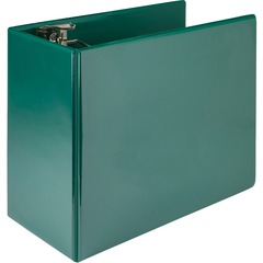 Samsill 16424: Nonstick 6 Locking D-Ring View Binder 6 Binder Capacity 1225 Sheet Capacity 3 x D-Ring Fastener s 2 Internal Pocket s Green 2.73 lb Recycled Lockable, Non-stick, Concealed Rivet..