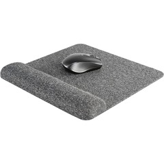 Allsop 32311: Premium Plush Mousepad with Wrist Rest 32311 1.85 x 11.60 Dimension Gray Fabric Surface, Foam 1 Pack Retail
