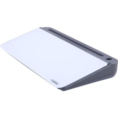 Lorell 99529: Dry Erase Notepad 18 1.5 ft Width x 7.2 0.6 ft Height Gray / White Glass Surface Rectangle Desktop 1 Each