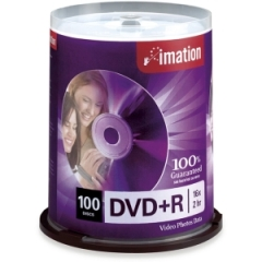 Imation 18060: Dvd r Discs, 4.7gb, 16x, Spindle, Silver, 100 / pack