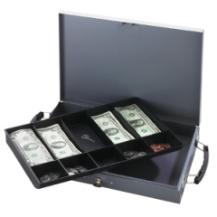 Buddy Products 5311: Paymaster Cash Box 5 Bill 5 Coin 2.3 Height x 15.3 Width x 10.5 Depth