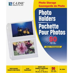 C-Line 52564: 35mm Ring Binder Photo Storage Pages 4 x 6 Clear, Side Loading, 11-1/4 x 8-1/8, 50 / BX, 52564