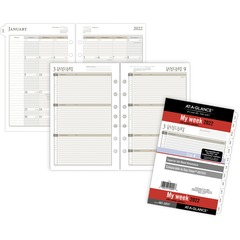 Day Runner 481285Y: Weekly Planner Loose-leaf Refill Julian Dates Weekly 1 Year January 2021 till December 2021 7 00 AM to 6 00 PM Hourly 1 Week Double Page Layout 5 1/2 x 8 1/2 Sheet Size 7-ring..