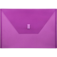 Lion 22080PR: Hook Loop Closure Poly Envelopes A4 8 17/64 x 11 11/16 Sheet Size Poly Purple Recycled 1 Each