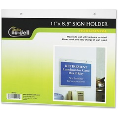 Nu-Dell 38008: Acrylic Sign Holders Support 11 x 8.50 Media Acrylic 1 / Each Clear