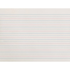 Zaner-Bloser ZP2611: Dotted Midline Newsprint Paper 500 Sheets 0.63 Ruled Unruled 10 1/2 x 8 White Paper Grade 500 / Pack