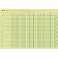 National Brand 45613: National Side Punched Analysis Pads 50 Sheet s Gummed 16 3/8 x 11 Sheet Size 3 x Holes Green Sheet s Green, Brown Print Color 50 / Pad