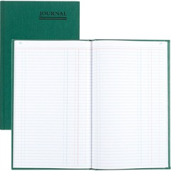 National Brand 56112: Emerald Series Hard Cover Journal Book 150 Sheet s Gummed 7 1/4 x 12 1/4 Sheet Size White Sheet s Green Print Color Green Cover Recycled 1 Each
