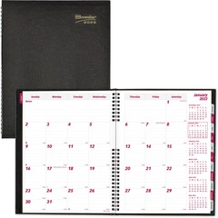 Brownline CB1262CBLK: CoilPro Hard Cover 14-month Monthly Planner Julian Dates Monthly 1.2 Year December 2020 till January 2022 1 Month Single Page Layout 8 1/2 x 11 Sheet Size Twin Wire Black Phone..