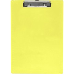 Saunders 21595: Neon Plastic Clipboards 0.50 Clip Capacity Low-profile Plastic Neon Yellow 1 Each