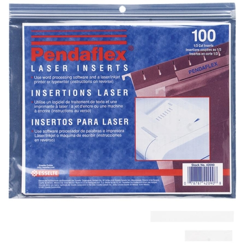 photograph regarding Pendaflex Printable Tab Inserts called Pendaflex 43290: Printable Tab Incorporate Print-upon Tab(s) 5