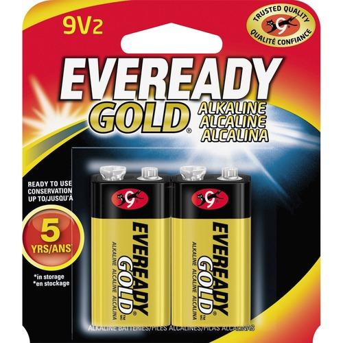 Eveready A522BP 2 Gold Alkaline 9 Volt Batteries For