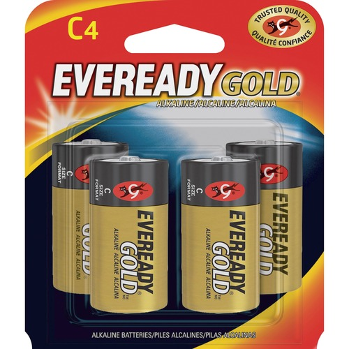 Eveready A93BP 4 Gold Alkaline C Batteries For